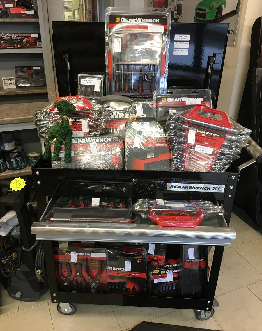 Gear Wrench Tool Cart Give Away