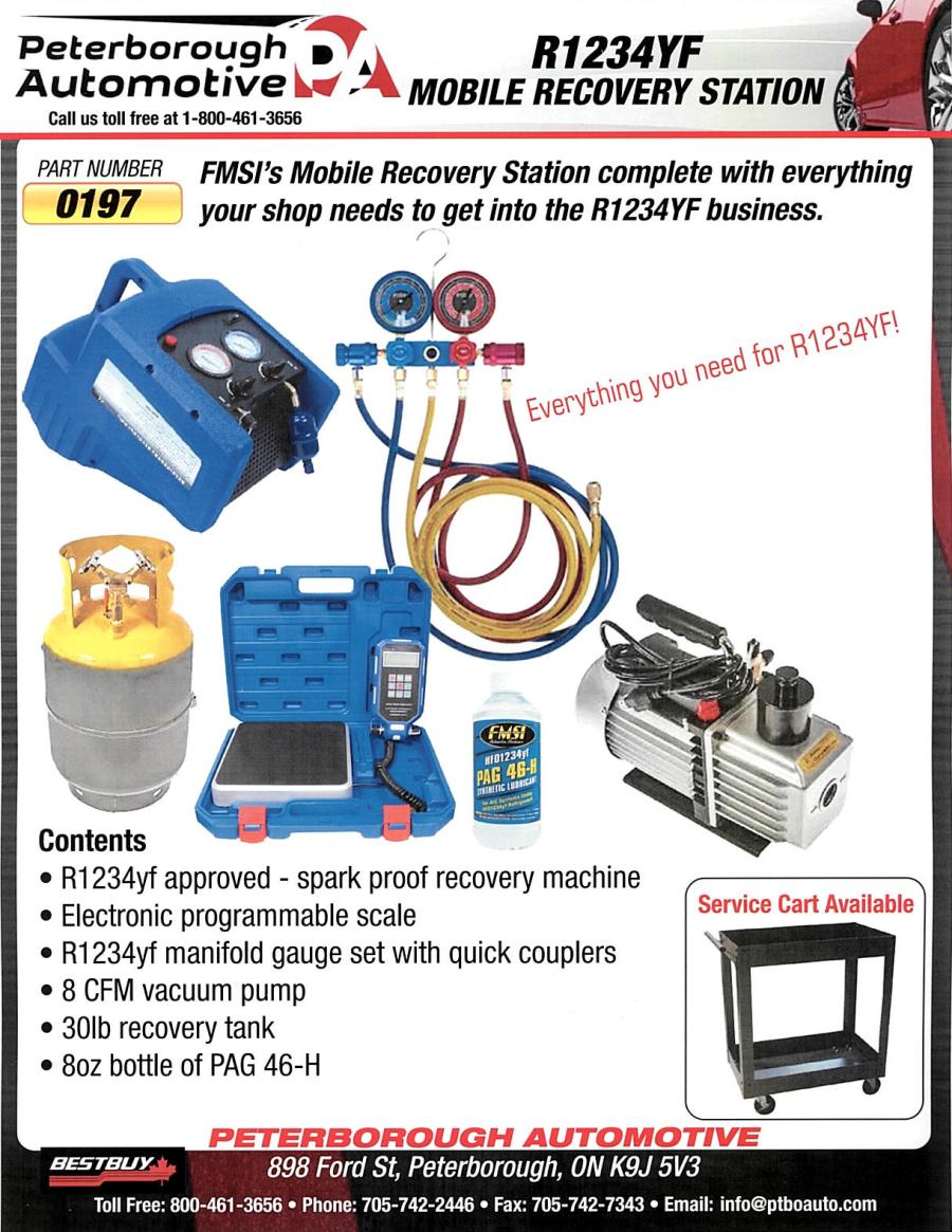 R1234YF Mobile Recovery Station